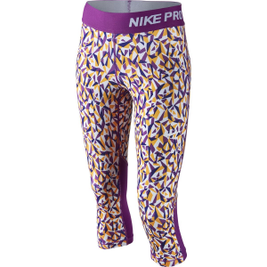 Nike Pro Cool Allover Print Tights - 3/4-Length - Girls'