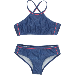 Seafolly Denim Street Tankini Swimsuit - Girls'
