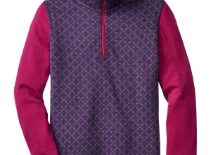 SmartWool Mid 250 Pattern Zip Top - Girls'