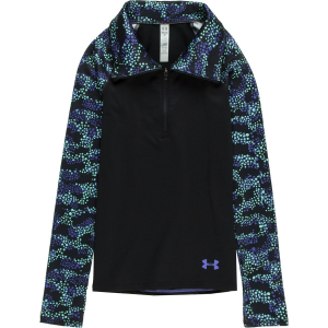 Under Armour Coldgear Printed 1/2-Zip Top - Girls'